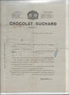 21064 - Chocolat Suchard Neuchâtel Prix Courants Cartes Postales !!! Papier Cigarette Très Fin Déchirée Sur Pli Central - Suisse