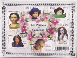 FRANCE 2010 BLOC OBLITERE LES POUPEES DE COLLECTION F4394 - F 4394 TDA128 - Sheetlets