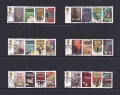 Great Britain 2008 Ian Fleming Author - James Bond Series Set Of 6 CTO - 1952-.... (Elizabeth II)