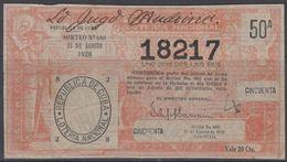 LOT-375 CUBA REPUBLIC OLD LOTTERY SORTEO DE LOTERIA No.680. 31/08/1928. - Lottery Tickets