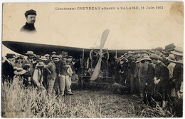 AVIATION - Lieutenant CHEVRAU à Salaize 1911 (aéroplane, Aviateur, Monoplan - TOP CPA à Voir ! - Aviatori