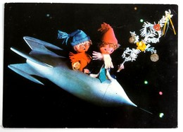 #405  Dolls Cosmonauts, Handmade Model - Used Postcard 1971 - Jeux Et Jouets