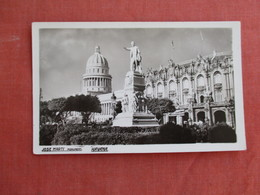 RPPC  Jose Marti Monument Havana Cuba  Ref 3092 - Cuba