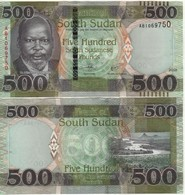 South Sudan  New Issue  500 Sudanese Pounds     Dated  2018 - Südsudan