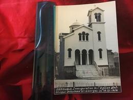 L'église Grecque  38 Grenoble  Inauguration 1956   - Real Photo - Grèce