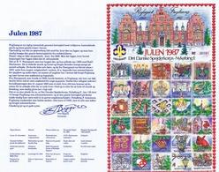 Denmark; Scouting;  Local Christmas Seals - Nykøbing F.  Full Sheet 1987.  MNH ** - Not Folded In Folder. - Pfadfinder-Bewegung