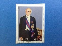 2009 MALTA ANNO REPUBBLICA 1,00 FRANCOBOLLO USATO STAMP USED - Malta