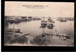 Kronschtadt Nr 110 Canal De Mer Ca 1910 POSTCARD 2 Scans - Russland
