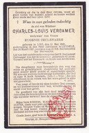 DP Charles L. Vercamer ° Lo Reninge 1845 † Leisele Alveringem 1927 X Eug. Ceulenaere - Images Religieuses