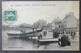 CPA 29 ROSCOFF- Le Thevin - Mise à L'eau Du Bateau De Sauvetage - Villard 3666 - Réf. V 118 - Roscoff