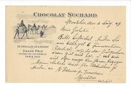 21070 -  Chocolat Suchard Grand Prix Exposition Universelle Paris 1900 Chameaux Et Pyramides - Publicité