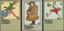 Ansichtskarten Künstler Jugendstil Sievers Clausen Braunschweig Serie 6 Karten  - Künstlerkarten