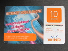 ITALIA WIND - INTERNET MOBILE PHONE SUPPORTO LISCIO - 31/12/2013 USATA - Schede GSM, Prepagate & Ricariche