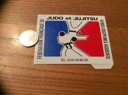 AUTOCOLLANT, Sticker «FÉDÉRATION FRANÇAISE DE JUDO Et JUJITSU - KENDO DISCIPLINES ASSOCIEES» - Autocollants