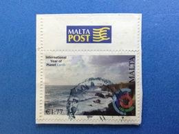 2008 MALTA INTERNATIONAL YEAR OF PLANET EARTH 1,77 FRANCOBOLLO USATO STAMP USED - Malta
