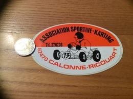 AUTOCOLLANT, Sticker «ASSOCIATION SPORTIVE KARTING - CALONNE-RICOUART (62)» - Autocollants