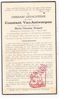 DP Constant Van Antwerpen ° Herzeeuw Herseaux Moeskroen 1861 † Sint-Henricus Torhout 1940 X M. Th. Demaré - Images Religieuses
