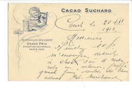 21074 -   Cacao Suchard Neuchâtel Grand Prix Paris 1900 Court 20.12.1912 + Cachet Robert Marchand - Publicité