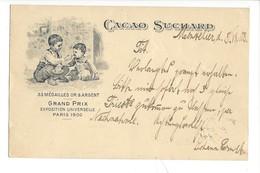 21075 -   Cacao Suchard Neuchâtel Grand Prix Paris 1900 Montelier 08.07.1908 Enfants - Publicité