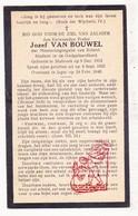 DP EH Student - Jozef Van Bouwel 27j. ° Stabroek 1912 † Ieper 1940 / Scheut Anderlecht - Images Religieuses