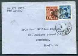 Egypt Airmail Censor Cover - Aberdeen. Radio Officer G.J. Ingram, S/S CLAN MACKINNON Ship, Suez - Covers & Documents