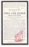 DP Irma Van Daele ° Doomkerke Ruiselede 1884 † Aalter 1930 X Alidor Meirhaeghe - Images Religieuses