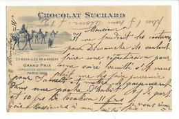 21078 -   Chocolat Suchard Neuchâtel Grand Prix Paris 1900  Dromadaires + Cachet Sentier 17.04.1903 - Publicité