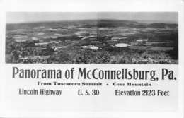 McCONNELLSBURG PA PANORAMA FROM TUSCARORA SUMMIT-LINCOLN HWY-1940s REAL PHOTO POSTCARD 35486 - Other