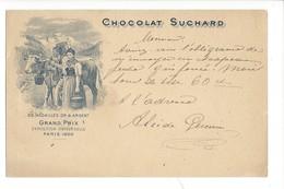 21079 -   Chocolat Suchard Neuchâtel Grand Prix Paris 1900 + Cachet Linéaire RENAN - Publicité