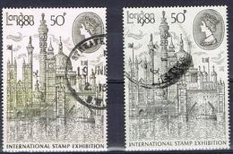 DO 6587  GROOT-BRITTANNIË  GESTEMPELD YVERT NRS 731 + B  ZIE SCAN - 1952-.... (Elizabeth II)
