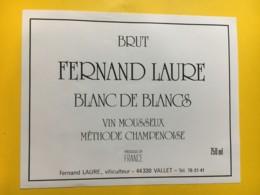 9156 - Vin Mousseux  Fernand Laure Vallet - Etiquettes