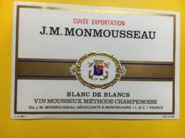 9162 - Vin Mousseux  J.M. Monmousseau - Etiquettes