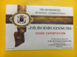 9165 - Vin Mousseux Cuvée Exportation J-M- Monmousseau - Etiquettes