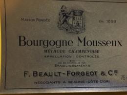 9171 -  Bourgogne Mousseux F.Beaul-Forgeot Beaune - Bourgogne