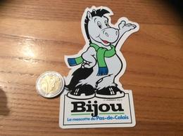 AUTOCOLLANT, Sticker *x «Bijou, La Mascotte Du Pas-de-Calais (62)» (Cheval) - Autocollants