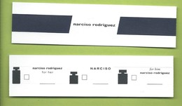 NARCISO RODRIGUEZ *  3,5 X 14 Cm - Perfume Cards