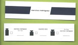 NARCISO RODRIGUEZ *  3,5 X 14 Cm - Modernes (à Partir De 1961)