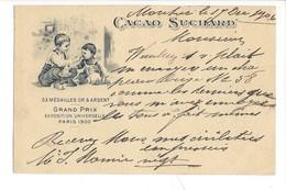 21082 -   Cacao Suchard  Grand Prix Paris 1900 Enfants  Moutier 19.12.1906 - Publicité