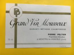 9146 - Grand Vin Mousseux Pierre Peltier Menetru-le-Vignoble Jura - Etiketten