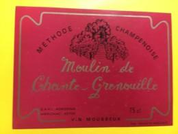 9150 -  Vin Mousseux Moulin De Chante-Grenouille - Etiquettes