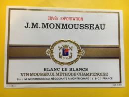 9151 -  Vin Mousseux J-M-Monmousseau Cuvée Exportation - Etiquettes