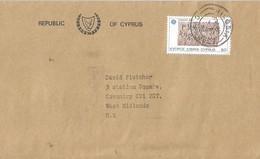 Cyprus 1984 Nicosia EUROPA CEPT Prehistory Inscription Cover - 1983