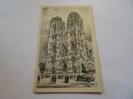 CPA Le Vieux Toul Pittoresque - Façade De La Cathedrale - Toul