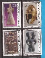 1997X   2837-40   JUGOSLAVIJA  ARTE  ARCHEOLOGIA     MNH - Archéologie