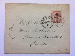 GB - Victoria Cover 1881 Maidstone Duplex To Leeds - 1840-1901 (Viktoria)