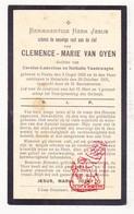 DP Clemence M. Van Oyen / VandeWeghe ° Poeke Aalter 1858 † Ruiselede 1931 - Images Religieuses