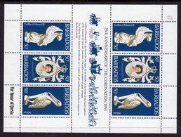 BARBADOS - 1978 CORONATION JUBILEE ANNIVERSARY SHEETLET (6V) FINE MNH ** SG 597-599 X 2 - Barbades (1966-...)