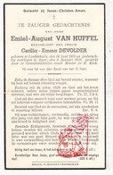 DP Emiel A. Van Huffel ° Lotenhulle Aalter 1875 † Ieper 1939 X Cerilla E. DeVolder - Images Religieuses