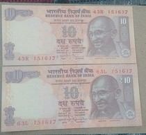 151617 ..two Different..India..inde UNC Pair @ See Sample - Inde