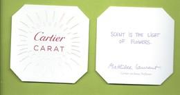 CARTIER * KARAT * V/R DIFFERENT - Perfume Cards